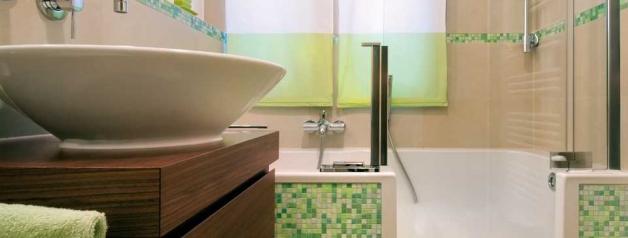 Twinline 2 im kleinen Badezimmer