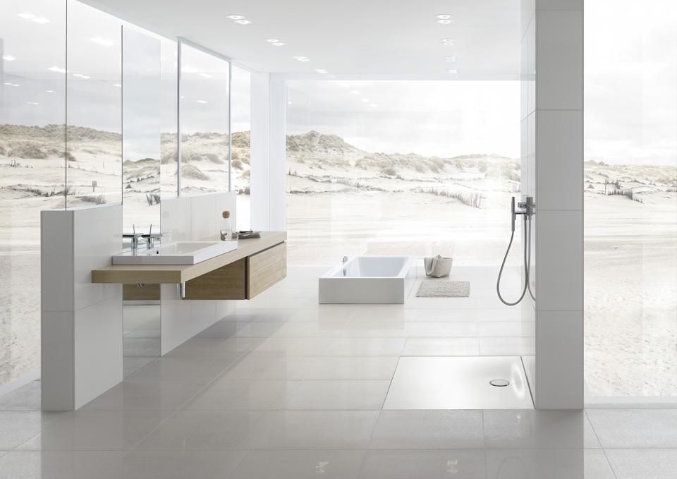 Die moderne Bettefloor Side Dusche in weiß