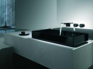 Deque-Waschtisch-Armatur in schwarz-matt.