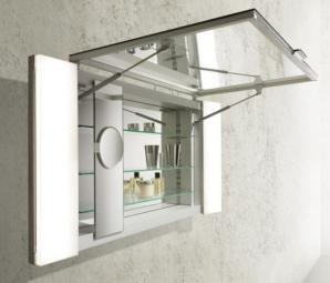 Inmitten  des  innovativen  Einrichtungskonzeptes  EDITION  11  für  die  gehobene  Innenarchitektur sind Spiegelschränken der EDITION 11 Stauraumlösungen von 700 mm bis 2800 mm realisierbar – passend zum umfangreichen Möbel und Waschtischprogramm.