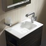 Das Durchschnittsgästebad ist laut Studien zwei bis vier Quadratmeter groß. Das bedeutet, dass die Möbel darin platzsparend und funktional sein müssen.