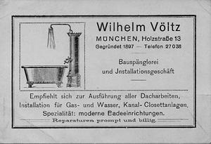 Visitenkarte um 1910