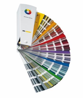 Der Farbtonfächer von Sto hilft bei der Auswahl.