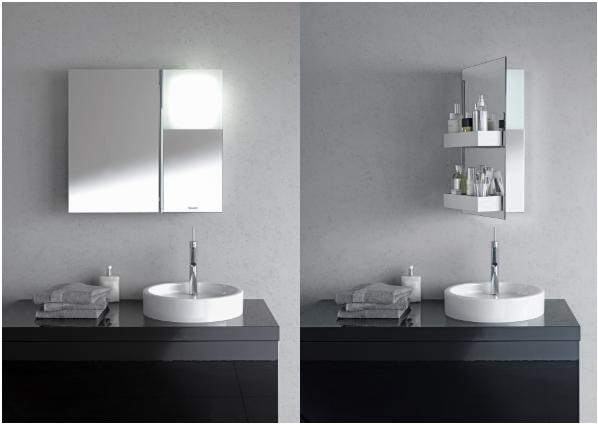 Minimalistischer Spiegelschrank der Serie Starck1 von Duravit